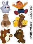 set of soft toys | Shutterstock .eps vector #38223157