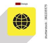 the globe icon. globe symbol.... | Shutterstock .eps vector #382235575