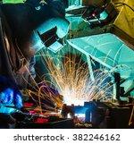 welder industrial automotive... | Shutterstock . vector #382246162