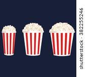 various portion of popcorn. | Shutterstock .eps vector #382255246