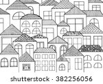 hand drawn with ink background... | Shutterstock .eps vector #382256056