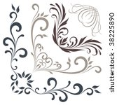 vector corner scrolls. elements ... | Shutterstock .eps vector #38225890