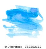 blue watercolor hand drawn... | Shutterstock .eps vector #382263112