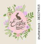 easter greeting card | Shutterstock .eps vector #382274515