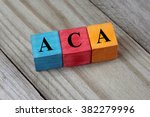 aca  affordable care act ... | Shutterstock . vector #382279996