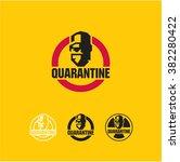 quarantine  virus  surgeon ... | Shutterstock .eps vector #382280422