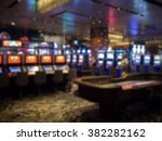 blur focus in casino. abstract... | Shutterstock . vector #382282162