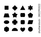 set of geometric rounded kid...   Shutterstock .eps vector #382290322