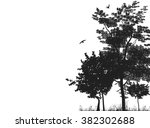 Silhouettes Of Trees In A...