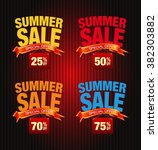 summer sale collection. vector... | Shutterstock .eps vector #382303882