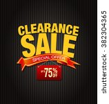 clearance sale poster with... | Shutterstock .eps vector #382304365