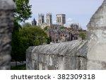 fortified cities york bar walls ... | Shutterstock . vector #382309318