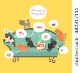 Funny Cats With Speech Bubble