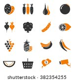 grocery store simply icons for... | Shutterstock .eps vector #382354255