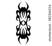 tattoo tribal vector designs.... | Shutterstock .eps vector #382366216