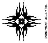tattoos. stencil. patterns.... | Shutterstock .eps vector #382375486