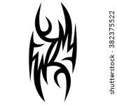 tattoo tribal vector designs.... | Shutterstock .eps vector #382375522