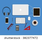 office flat design.business... | Shutterstock .eps vector #382377472