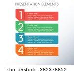 1 2 3 4 infographics template.... | Shutterstock .eps vector #382378852