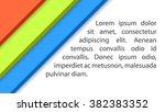 vector abstract background.... | Shutterstock .eps vector #382383352