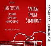 jazz festival. vector poster....   Shutterstock .eps vector #382384732