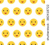 bright yellow smiling faces... | Shutterstock .eps vector #382418722