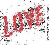 vector love  art vintage...   Shutterstock .eps vector #382439098