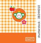 Cutie Monkey Card In Orange