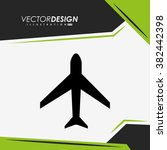 airplane icon design  | Shutterstock .eps vector #382442398