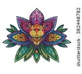 vector color henna lotus... | Shutterstock .eps vector #382448782