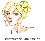 vector  stylish  original hand... | Shutterstock .eps vector #382450156