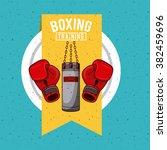 boxing sport design  | Shutterstock .eps vector #382459696