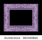 Purple Picture Frame Isolated...