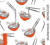 hand drawn seamless pattern... | Shutterstock .eps vector #382462135