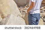 an unidentified young asian man ... | Shutterstock . vector #382464988