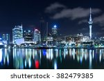 Auckland City And Skytower At...