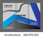 tri fold business brochure... | Shutterstock .eps vector #382491202