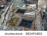 9 11 memorial park  aerial view ... | Shutterstock . vector #382491802