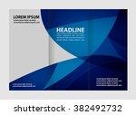 tri fold business brochure... | Shutterstock .eps vector #382492732