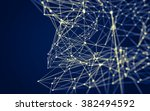 abstract polygonal space low... | Shutterstock . vector #382494592