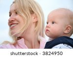 mother with the baby | Shutterstock . vector #3824950