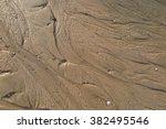 Water Streak On Sand The Beach