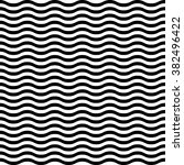 black with white seamless wave... | Shutterstock . vector #382496422