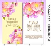 invitation with floral... | Shutterstock . vector #382499902