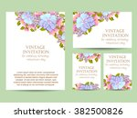 vintage delicate invitation... | Shutterstock .eps vector #382500826