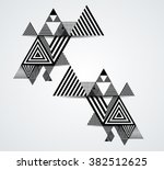 vector hipster triangle... | Shutterstock .eps vector #382512625