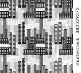 the  skyscrapers  pattern made... | Shutterstock .eps vector #382529272