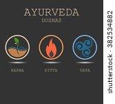 ayurveda doshas vector...   Shutterstock .eps vector #382534882