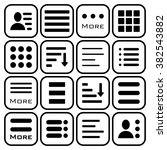 hamburger menu icons set. bar... | Shutterstock .eps vector #382543882