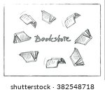 vector sketch of the books... | Shutterstock .eps vector #382548718